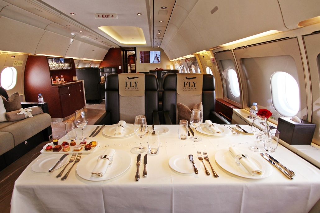 Catering options on Board Fly Elite Jets