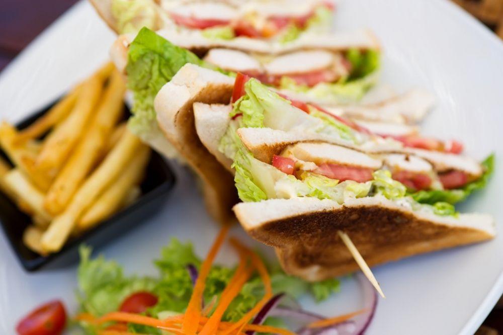 Club Sandwich with Cajun Fries