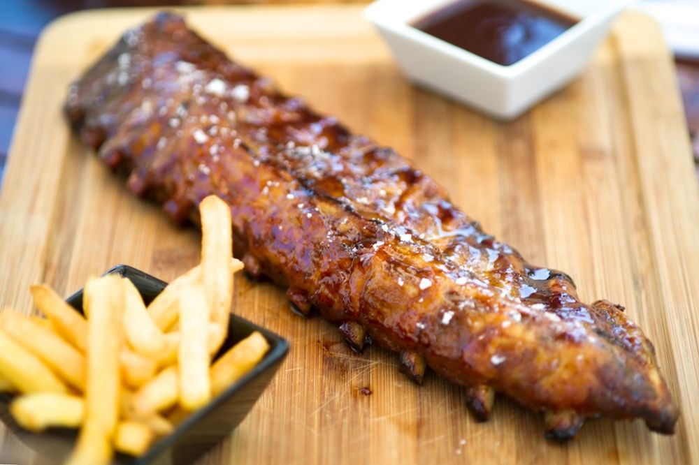 Sala BBQ Ribs with French Fries