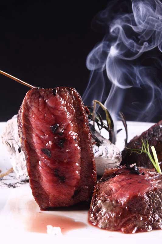 seared steak trocadero style