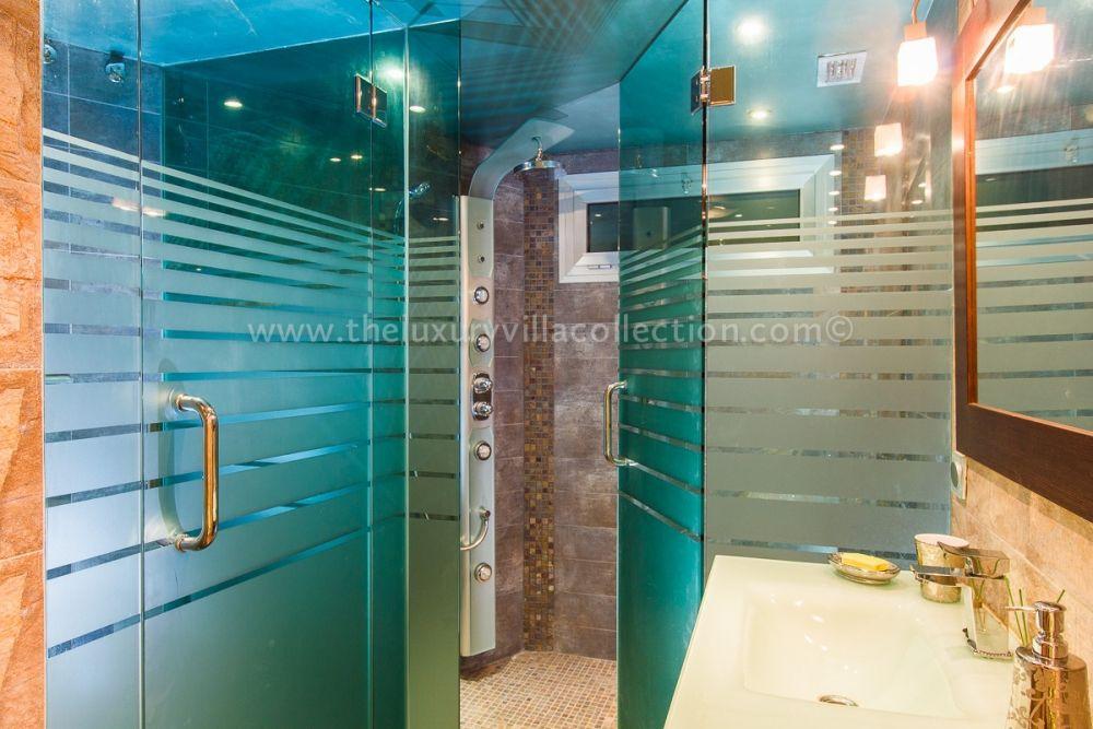 Power Shower in Sauna Room